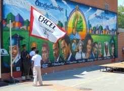 Excel Englewood Graduates Hold Anti-Violence March, Mural Unveiling