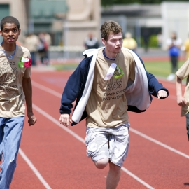 Special Needs Students Run Clover Park School District Track Inv