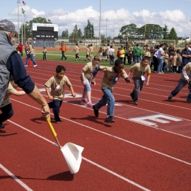 Special Needs Students Run Clover Park School District Track Mee