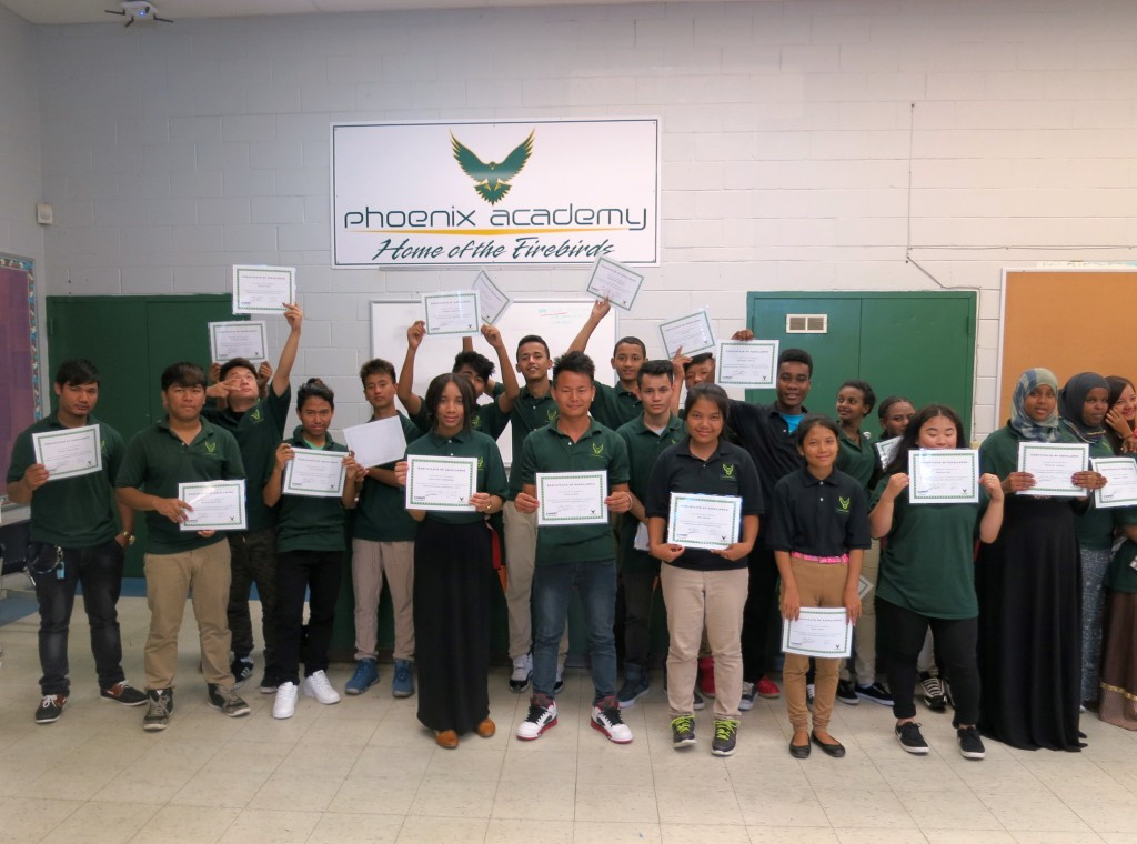 Students celebrate completion of the summer program.