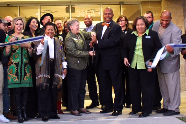 Spring ISD Board Trustees, administrators and Richey Academy staff and students officially dedicate the new campus.